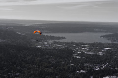 Enjoying the View (dr_stan3) Tags: poopoopoint issaquah washington hiking paraglide paragliding paraglider selectivecoloring landscape landscapephotography outdoor