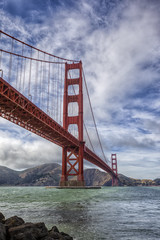 Golden Gate (x-ray tech) Tags: interesting interestingness flickr explore bridge bay ocean sea water rust red orange rock shore shoreline coast coastal coastline sky clouds boat ship brick awesome magnificent fantastic amazing sanfrancisco goldengate hdr high dynamic range photoshop level horizon nice capture composition color vivid bright vacation travel destination tourist fog marine layer waves wind canon 5dmarkii ef1635l