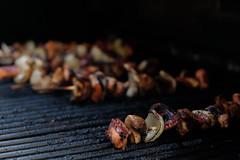 Octopus Skewers (jessicachlee) Tags: summer food bokeh grill octopus taste