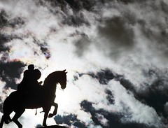 Horse and rider statue silhouette  #buenosaires #sky #silhouette (Paul A Bischoff) Tags: sky horse silhouette clouds square squareformat iphoneography instagramapp uploaded:by=instagram