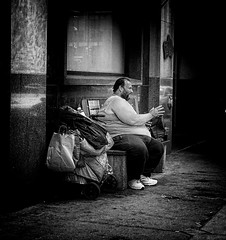 (daveson47) Tags: street bw mono candid minneapolis streetphoto ricoh urbanlife homeles grd ricohgrd