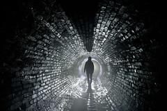 Drain (flallier) Tags: storm drain égout collecteur briques tunnel silhouette backlight montréal souterrain québec canada