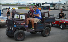 NASCAR Quaker State 400 - Kentucky Speedway - 7/9/2016 (rbatina) Tags: rubbertoe nascar sprint cup race kentucky speedway ky track sparta day stock car racing outside outdoors july 9 9th 2016 792016 quaker state 400 auto racecar series pit road garage access pass hot summer driver appearance hauler rv bus area parking candid golf cart kart sidebyside sbs vehicle personal transportation