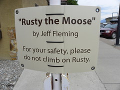 Rusty the moose sign (Dim Lamp) Tags: sign rusty moose