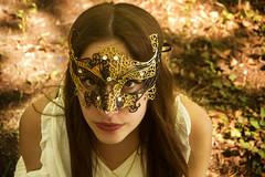 Wild grace (Floramagiic) Tags: light summer portrait woman sun white hot nature girl hair spring nikon long dress mask masque