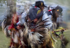 Pow Wow dancer (marianna_a.) Tags: canada motion blur male men festival wow festive indian ceremony dancer pow tribe kahnawake mariannaarmata p2550617