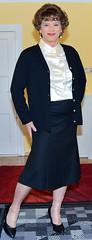 Birgit022384 (Birgit Bach) Tags: rock skirt blouse button satin cardigan bluse strickjacke knpfe