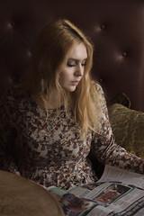 Angelina (TATYANA KONSA) Tags: brown girl warm tones magazin caffee