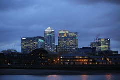 Canary Wharf at night (kenjonbro) Tags: skyline skyscraper skyscape landscape evening cityscape greenwich riverthames hsbc citi isleofdogs jpmorgan se10 canadaheights canoneos5dmkiii canonef70200mm128l1siiusm