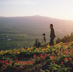 i belong with you, you belong with me (manyfires) Tags: sunset portrait love film oregon analog mediumformat square landscape golden michael spring photographer bokeh hills hasselblad pacificnorthwest wildflowers engaged pnw paintbrush magichour hoodriver balsamroot fianc hasselblad500cm hoodrivervalley alternatetitlebeforetheproposal
