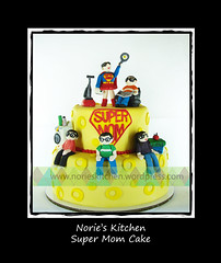 Norie's Kitchen - Super Mom Cake (Norie's Kitchen) Tags: birthday cakes philippines mother celebration custom cavite mothersday fondant gumpaste supermom norieskitchen