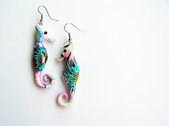 (feelingfimo) Tags: seahorse handmade jewelry fimo earrings