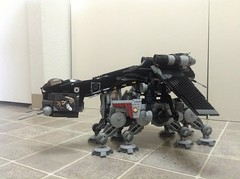 Shadow R Dropship with AT-OT (Johnny-boi) Tags: shadow black star republic lego walker wars minifig custom clone gunship starfighter dropship