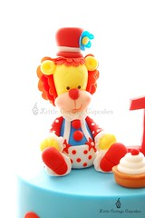 Circus Clown Lion! (Little Cottage Cupcakes) Tags: birthday boy cake circus lion topper 1stbirthday fondant custardpie sugarpaste littlecottagecupcakes