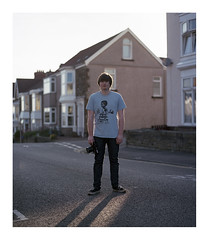 (Lee Fryer) Tags: street light sunset portrait mamiya james 6x7 f28 rz67 110mm