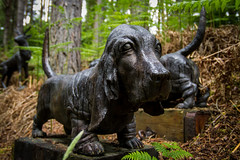 Bassets (DrSpotter) Tags: sculpture bronze arty basset classification