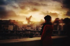 Postcard from rome (Freddy Viera) Tags: city light sunset portrait italy rome girl landscape golden twilight tramonto alone atmosphere hour ragazza
