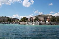 Lake Geneva ; Switzerland (norigB) Tags: travel summer lake ferry switzerland boat europe geneva