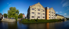 The old prison in Leeuwarden, the Netherlands. (Waku Waku) Tags: old blue panorama building green alex water netherlands sony prison fryslan leeuwarden waku wakanno alpha550