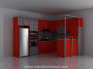 kitchen set oranye duco