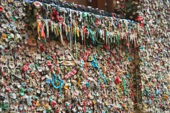 gum wall (karenleighcraig) Tags: seattle outdoor holly ty jenniferpaz january2009 february2009 jasonniedle aprilmalina