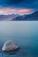 Sunset. (Mjuboy) Tags: longexposure blue india lake water clouds landscape rocks skies tso ladakh waterscape pangong ndfilter 3idiots canonef24105mmf4lis canon5dmarkiii
