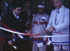 Still from The Cruz Family Collection, no. 1 - Tigua Reservation Housing Dedication (1976) (Texas Archive of the Moving Image) Tags: dedication el paso houstin tigua