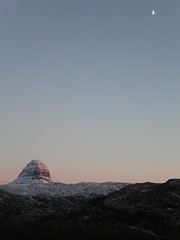 Suilven Moon taken from the viewpoint in Culag woods