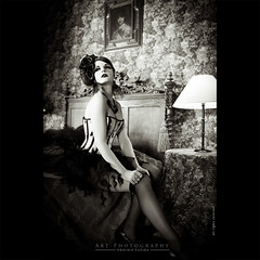 RetroLove (dominikfoto) Tags: sexy castle beauty fashion vintage 50mm dance bed swan model bedroom chair nikon robe danse retro corset lit baroque bas juliette nylon cygne chaise fauteuil steampunk romantique sexygirl romantical romantisme fusina d3s fusinadominik