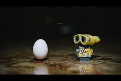 246/365 - Eve? (LooseTrucks) Tags: eve food white color cute texture colors yellow night photoshop toy toys typography photography 50mm robot miniature photo nikon focus funny photographer dof bokeh lol space flash egg environmental disney outoffocus robots indoors faded pixar photoaday environment haha f18 figurine tones softbox countertop lightroom minifigure shallowdof splittone walle warmcolors warmtones fauxvintage filmlook vinylfigure robotlove treads fauxfilm offcameraflash toyphotography niftyfifty strobist nikon50mmf14 365daysproject nikond600 yongnuo walleandeve lumiquestsoftboxiii nikon50mmf14g funkopop yongnuo560ii phottixstratoii vscofilm walletherobot reggieballesteros reggieballesterosphotography