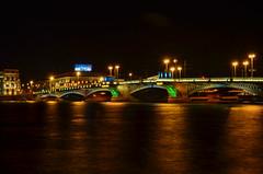 "St. Peretburh (Klimenko-en) Tags: city bridge summer color water architecture night buildings river landscape outdoors nikon amateur towns greatphotographers ""nikonflickraward"" ringexcellence tplringexcellence flickrstruereflection1"