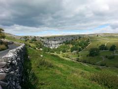 Malham Cove, North Yorkshire. (Portlandbill) Tags: waterfall cove yorkshire limestone dales malham flickrandroidapp:filter=none