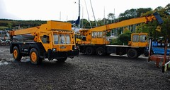old and new(er) (Zak355) Tags: marina cranes vehicles machines boatyard rothesay isleofbute heavylifting portbannatyne ironfairy hydroconclansman