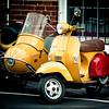 Stella (Sky Noir) Tags: stella urban yellow scooter sidecar genuine skynoir