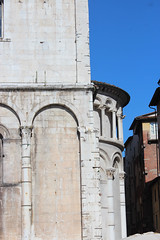 IMG_2766.jpg (She Curmudgeon) Tags: italy tower window angel facade lucca marble romanesque florence2013 pisanmarble