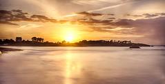 Smoothie Sunset (apophisnico) Tags: sunset sea sun mer landscape sony bretagne paysage hoya britany damejouanne nd400 longuepose poselongue saintbriacsurmer hoyandx400 sonyslta77 sony1650