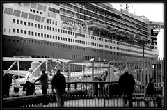 And we all live in little boxes (* RICHARD M) Tags: street travel windows tourism monochrome liverpool mono blackwhite sailing candid ships transport newquay quay maritime boxes nautical decks candids shipping railings ports queenmary2 cunard pierhead claustrophobic quayside cages merseyside lifeboats littleboxes capitalofculture shipsbridge luxuryliner seaports europeancapitalofculture luxuryliners oceanliners quaysides passengerships passengerliners