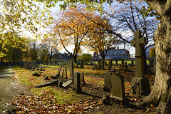 Hawkhead Cemetery cross (dddoc1965) Tags: autumn trees cemetery scotland photographer paisley hawkhead davidcameron dddoc positivepaisley