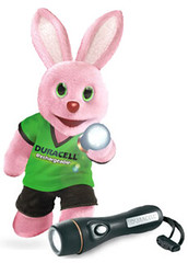 Duracell Bunny with Torch