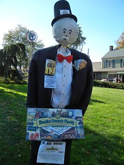 Mr. Big Bucks, Pennsylvania USA (Cwyntella) Tags: travel vacation usa game tourism october pennsylvania scarecrow monopoly pa newhope lahaska peddlersvillage 2013 aquetong scarecrowcompetition mrbigbucks buckscountyopoly