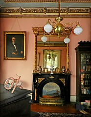 The Front Parlor:  The Secret Victorian Mansion, Eastern North Carolina (EdgecombePlanter) Tags: original architecture nc south fine victorian northcarolina southern fancy faux mansion ornate gilded majestic untouched trompeloeil medalions asis fauxpainting oldhats