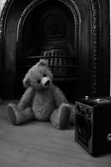 (azza2212) Tags: camera bw teddy
