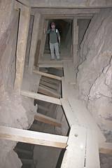 Walkway on stulls over a stope (Underground Explorers) Tags: arizona abandoned underground mine exploring swastika collapse explorers exploration shaft drift stope calcite raise flooded hoist adit winze