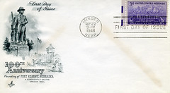 First Day Cover--100th Anniversary of the Founding of Fort Kearny--1948 (*hajee) Tags: 1948 oregontrail minden artcraft fdc firstdaycover fortkearny