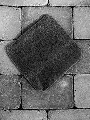 Diamond (wuwei2012) Tags: blackandwhite bw abstract pavement stones ace diamond abstraction ©åsaseger 06920120909