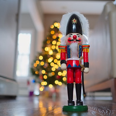 Guard the tree (Nick Harris1) Tags: festive soldier bokeh seasonal christmastree nutcracker fujinon23mm fujifilmxpro1