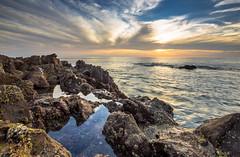 The Pacific from Rancho Palos Verdes (RW2photography) Tags: california blue sunset sky orange seascape water cali clouds canon landscape photography la losangeles rocks anemone 5d tidepool cloudporn seaurchin tiltshift 17mm