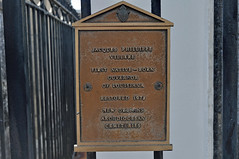 Villere cemetery plaque