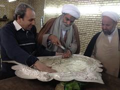 Sheikh visiting the workshop of Imam Hadi and Imam Askari Shrines