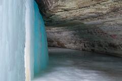 Behind the Frozen Waterfall (Samantha Polski) Tags: winter cold ice minnesota fun frozen waterfall burr mn tundra minnehaha minnehahafalls d600